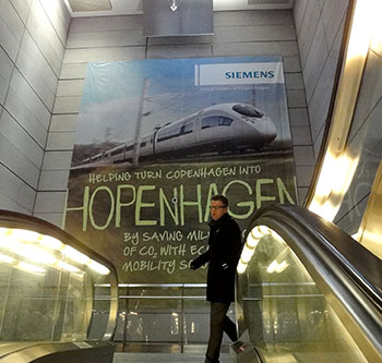 As this poster in a metro station shows, Copenhagen is calling itself