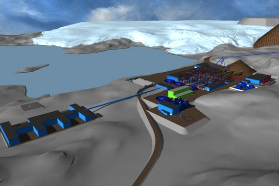 This artist's rendering show what the production plant at a huge iron mine planned for western Greenland will look like. (IMAGE FROM LONDON MINING GREENLAND/SERMITSIAQ)