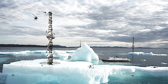 Inspired by a 2007 visit to Nunavut, Toronto architect Reza Aliabadi came up with a design for Arctic skyscrapers, which satisfy the human desire to escape gravity and have a good view. (IMAGE COURTESY OF R. ALIABADI)
