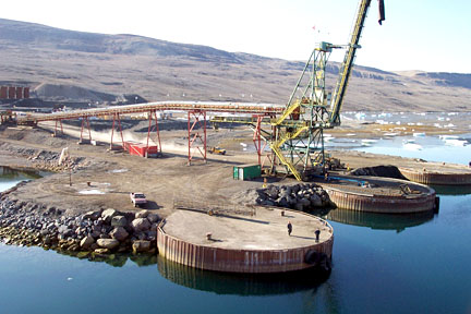 The old port at Nanisivik, as seen in a 2005 file photo. The Department of National Defence quietly revealed big cutbacks to a 2007 scheme that would have seen a $100-million upgrade to the old facility. (FILE PHOTO)