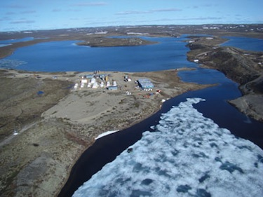 Izok Lake may soon be at the hub of a two-mine, zinc-copper complex in Nunavut's Kitikmeot region which would include a 350-kilometre all-weather road and a new port at Grays Bay. (PHOTO COURTESY OF MMG)