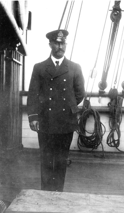 Robert Janes in a ship's officer's uniform. (HARPER COLLECTION)