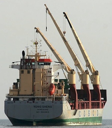 An ice-free Arctic Ocean is unlikely to attract a major increase in shipping traffic to and from China, the world's largest economy, according to a recent report by The Arctic Institute. The think tank found that major trade routes will develop in the southern hemisphere, far from routes plied by ships like the Yong Sheng, pictured, which travelled from Europe from China via the Northeast Passage this past fall. (FILE PHOTO)