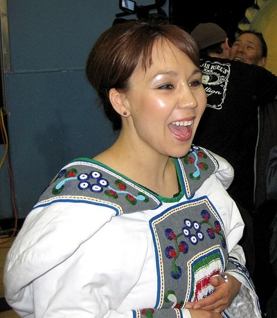 Madeleine Allakariallak at a community event in Iqaluit. On March 31, she will make her on-air debut as the host of Igalaaq, CBC North's Inuit language TV newscast. (FILE PHOTO)