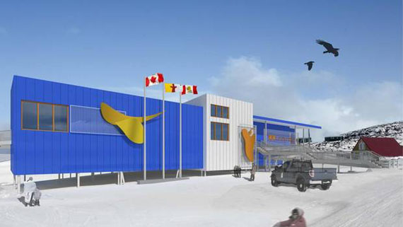 A rendering of the new Kenojuak cultural centre and shop. (IMAGE COURTESY OF PANAQ DESIGN)