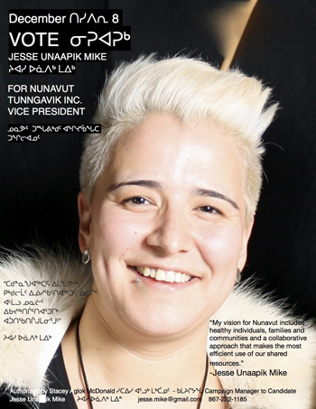 NTI vice-president candidate Jesse Mike in one of her campaign advertisements.