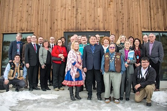 The Arctic Council's senior Arctic officials and permanent indigenous participants pose during their March 15 meeting in Whitehorse, Yukon where they prepares for this week's ministerial meeting in Iqaluit. (HANDOUT PHOTO)