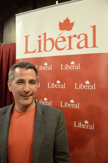 Hunter Tootoo told those gathered at Iqaluit's Francophone Centre July 27 that Nunavut needs a new voice in Ottawa and a new choice and he intends to be both. (PHOTO BY DAVID MURPHY)