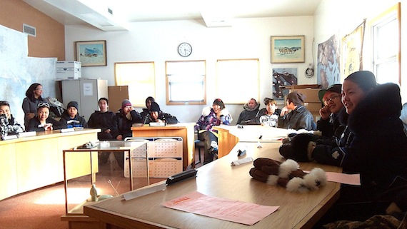 Students are pictured in class at Igloolik's Ataguttaaluk high school in 2011. A new study looking at truancy in Nunavut shows that almost a quarter of students drop out when they have their own children and can't secure childcare. (FILE PHOTO)