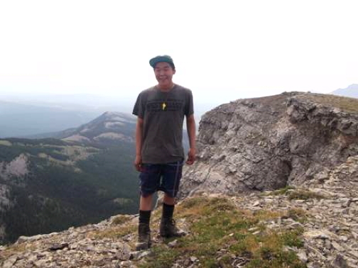 Ian Kavanna of Cambridge Bay was singled out for being a quick learner and for helping others during their Outward Bound trek through the Rockies this past summer. (OUTWARD BOUND PHOTO)