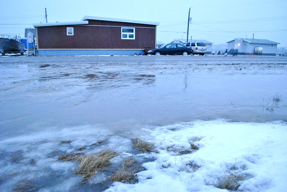 A rainy December in Iqaluit. The Government of Nunavut has created of a new office dedicated to the territory's mitigation and adaptation efforts against climate change. (FILE PHOTO)