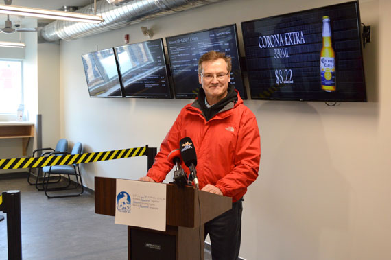 "Nunavut Finance Minister Keith Peterson at the Sept. 6 opening of Iqaluit's new, highly restrictive, wine and beer store. ""I believe prohibition has never worked anywhere. When people want alcohol, they're going to find it,"